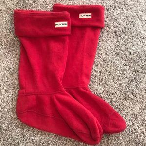 Hunter original tall fleece welly boot socks Large